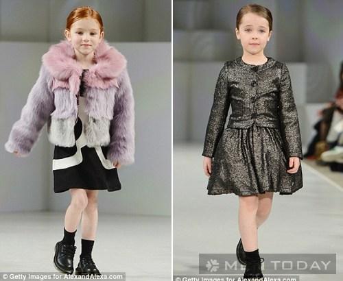 Người mẫu nhí đáng yêu trên sàn catwalk