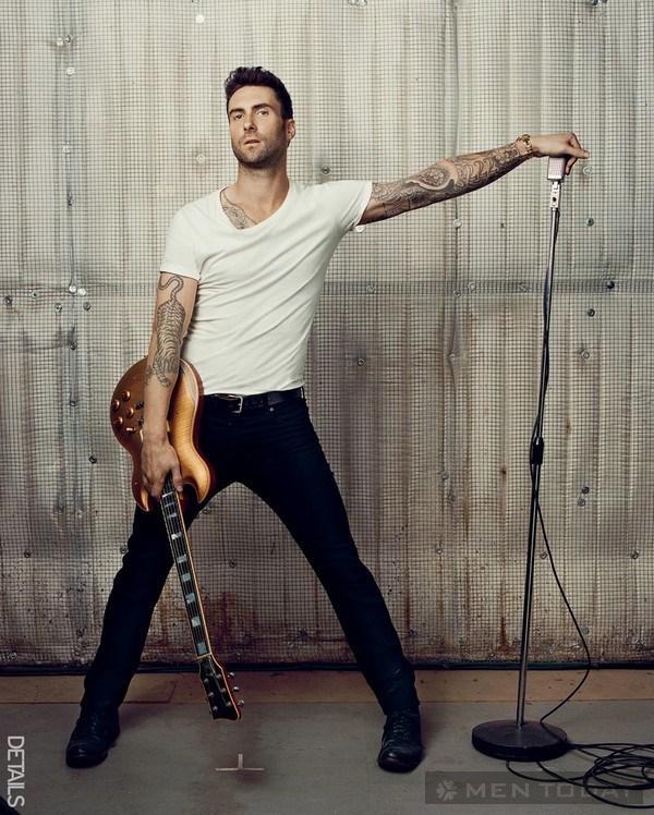 Cách phối áo phông trắng của Beckham và Adam Levine 11