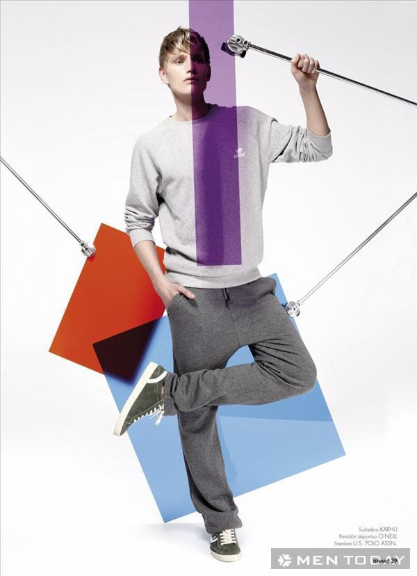 Trang phục thể thao sắc màu cho các chàng trai trên TenMag