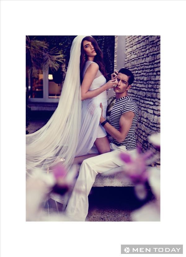 Kẻ ngang trẻ trung và thời trang trên tạp chí Elle Mariage