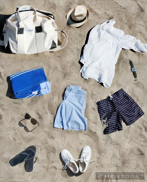 Gợi ý trang phục cho các chàng đi biển ngày cuối tuần