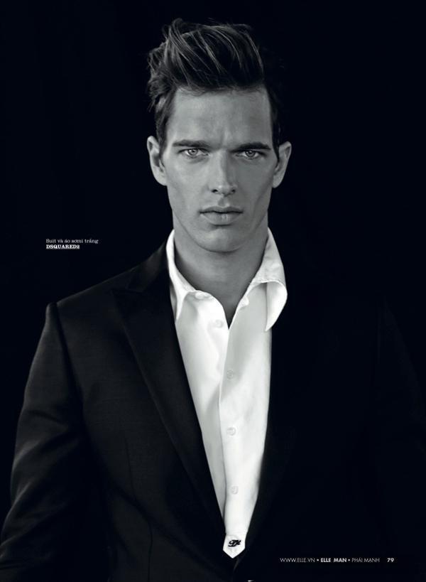 Quý ông quyến rũ và phong cách trên tạp chí Elle Man Vietnam
