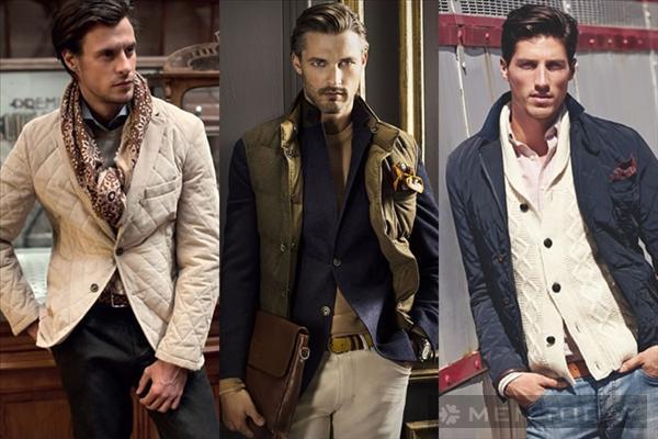 Xu hướng thời trang nam thu đông 2013: Trang phục chần bông