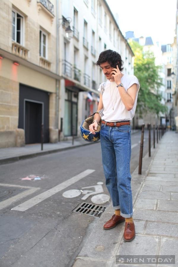 Ngắm street style cực chất của các chàng trai Paris