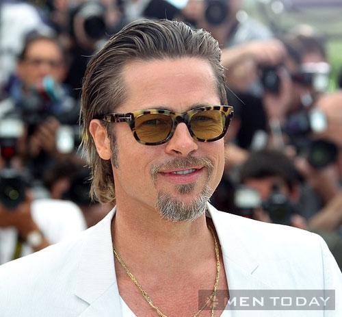 Brad Pitt lăng xê mốt tóc haircut cho mùa Hè 2014