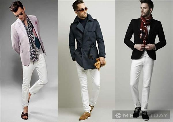 Quần jeans trắng: Xu hướng thời trang nam hè 2014?