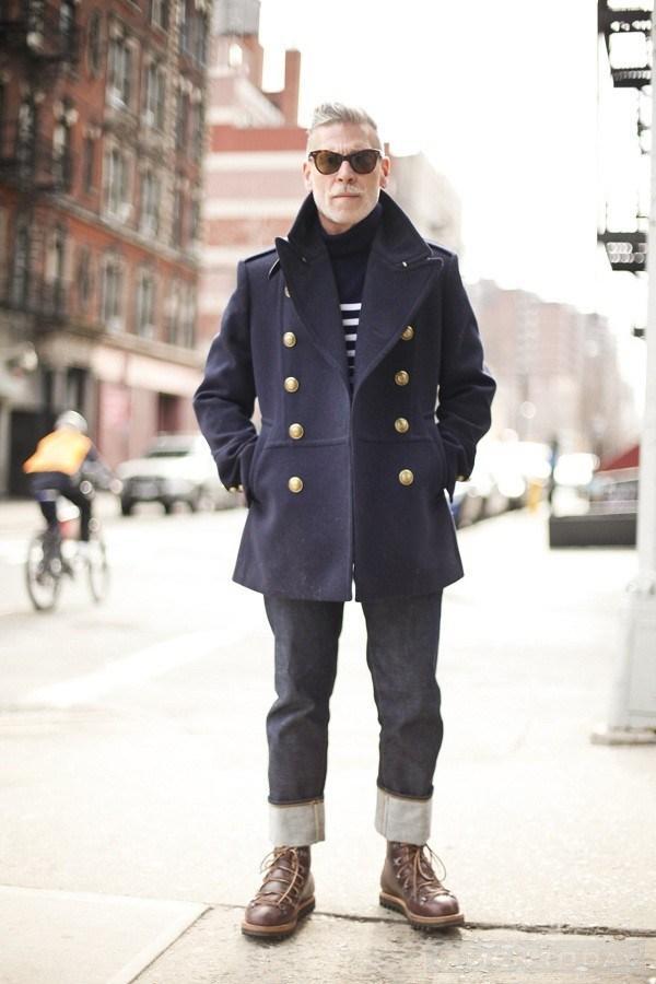Nick Wooster và quần jeans lật gấu