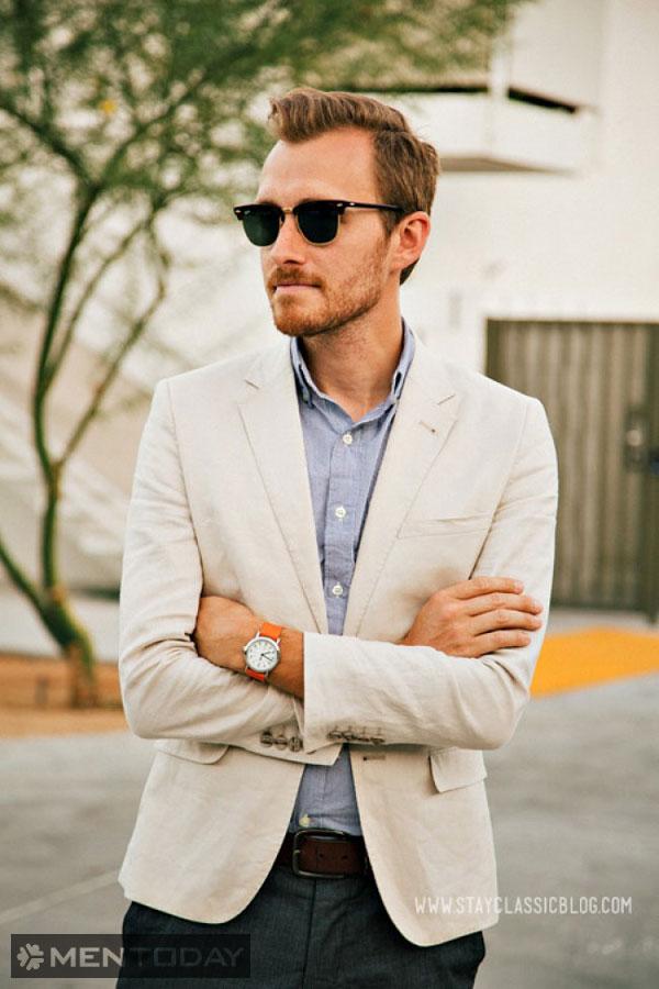 Blazer vải lanh sáng màu chính là lựa chọn phù hợp cho mùa nóng