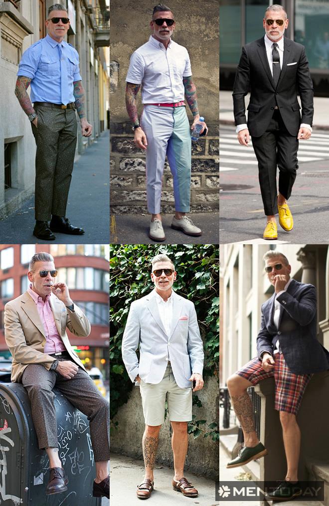 Lookbook của biểu tượng thời trang nam Nick Wooster