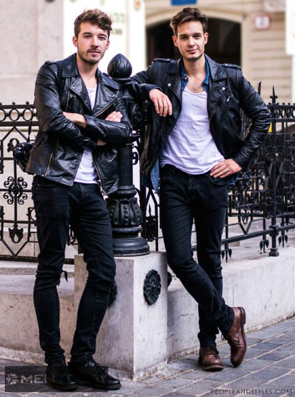 Những chàng cực cool cùng jeans và da