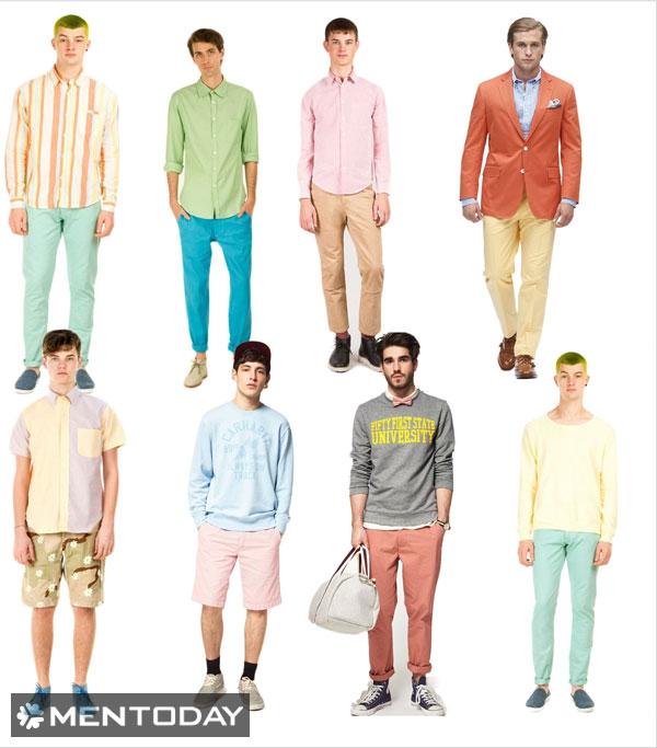 Những trang phục màu sắc cho nam mùa hè