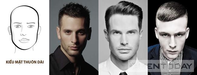 Chọn kiểu tóc nam cho khuôn mặt thuôn dài