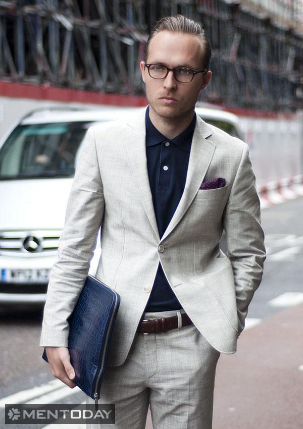 Mix đồ nam cùng áo polo tới công sở cuối tuần