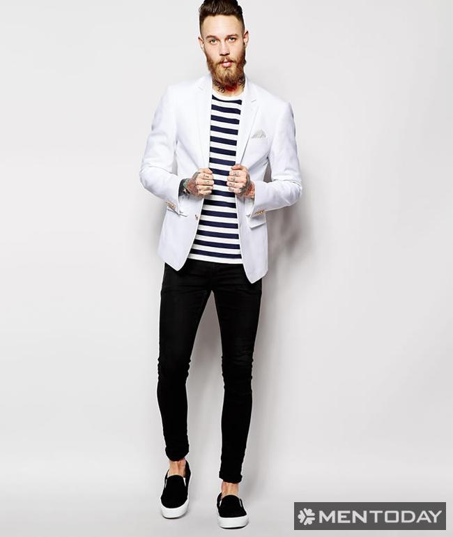 Tips mix đồ nam cùng blazer trắng